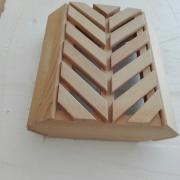 Coprilampada in legno